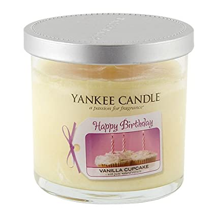 Yankee Candle Happy Birthday Celebration Small Tumbler Vanilla Cupcake Amazoncouk Kitchen Home