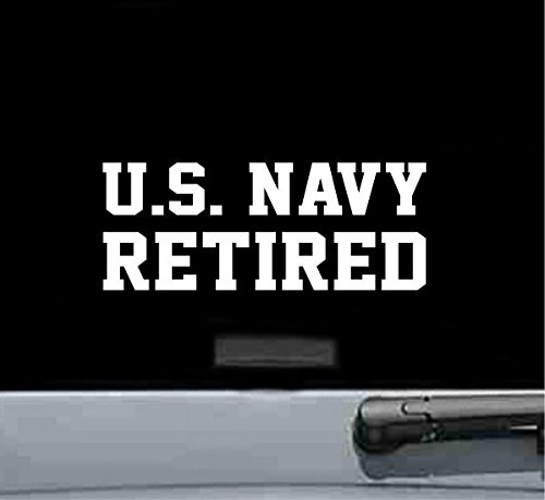 - JS Artworks U.S. Navy Retired Vinyl Decal Sticker