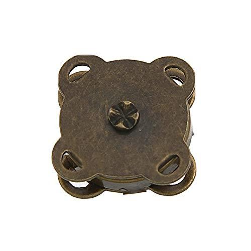 🥇 Trifycore 10 Piezas de Bronce Cosa en la Bolsa de Cierres magnéticos 15 mm es Ideal para Coser Ropa de Scrapbooking del Arte Bolsa