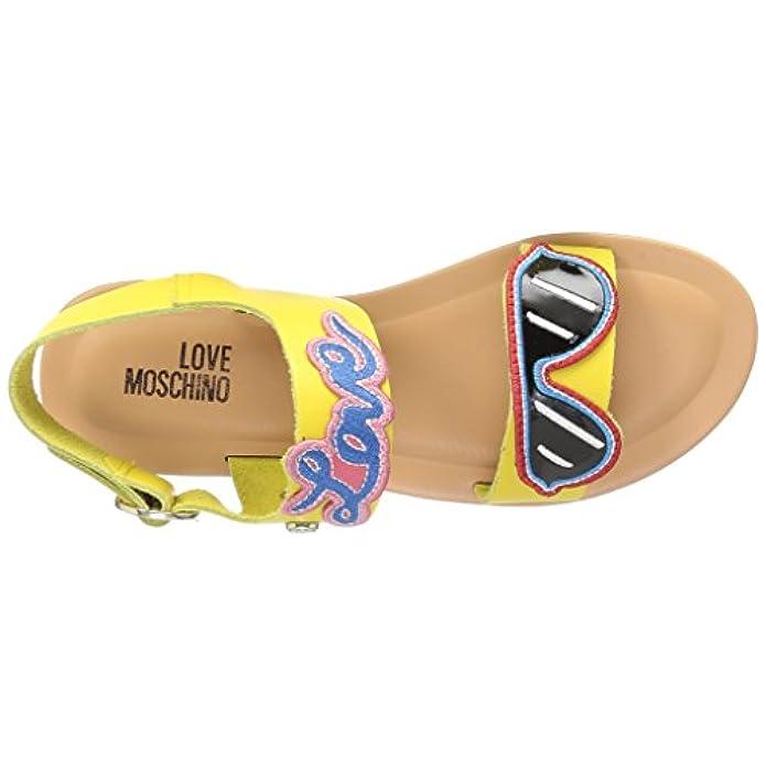 Love Moschino Scarpe Sandali Donna San Lod Crist 10 Vacchetta Giallo I Do