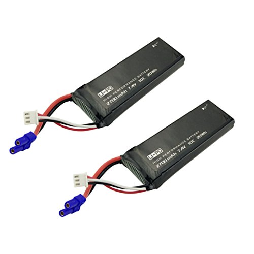 sea jump 2PCS 7.4V 2700mAh 10C Battery for Hubsan H501S X4 H501C Four-axis aircraft Aerial camera UAV spare parts