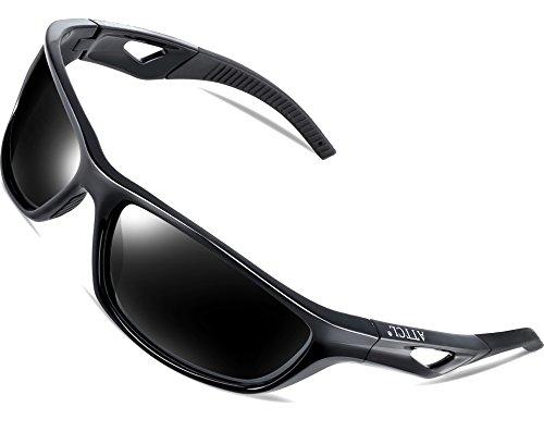 Hombre Marco Uv400 TR90 De Ligero Polarizado Negro Gafas Sol De Súper ATTCL Deportes AfgqUBUw