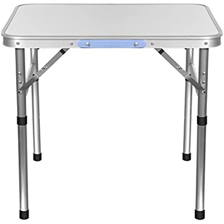 Aluminum Portable Folding Camping With Carry Handle Lightweight Picnic Outdoor Indoor Table 23 40 X 17 55 X 21 60