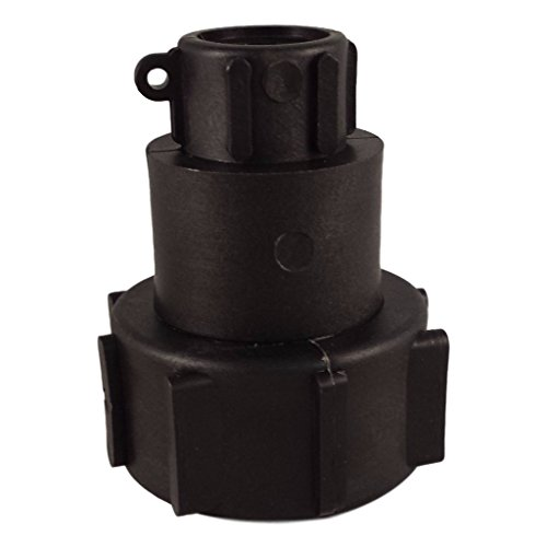 (IBC Tote Drain Adapter: 2in Buttress to 3/4in Female NPT Pipe Thread - Food Grade - Easily Connect Your Tote to Any 3/4 in Spigot - Great for IBC Totes W/Broken Values)