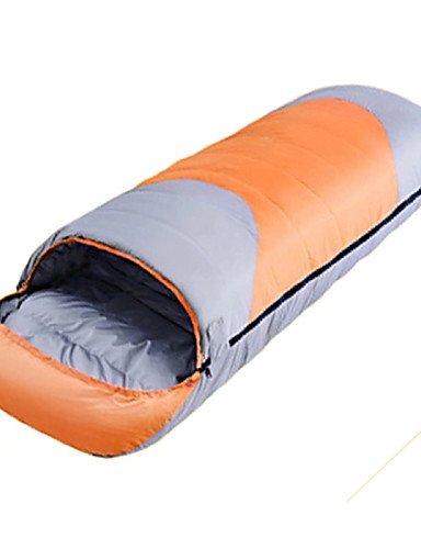 Saco de dormir rectangular bolsa única -15? plumón de pato, 1800 g, 220 x 80 viaje mantener caliente Camel, naranja: Amazon.es: Deportes y aire libre