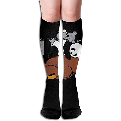 Unisex Bear Panda Koala Design Elastic Long Socks Compression Knee High Socks (50cm) for Sports, Running, Travel ()
