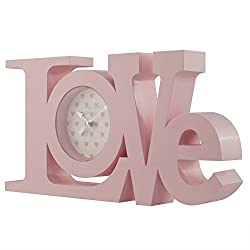 Better Homes and Gardens Pink Childrens Love Clock
