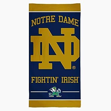 NCAA Notre Dame Fighting Irish Fiber Beach Towel, 30 x 60-Inch