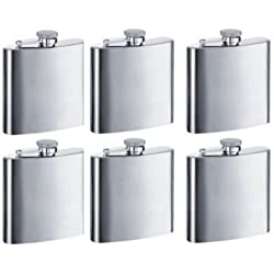 Gifts-Infinity 8 oz Hip Stainless Flask Set of 6