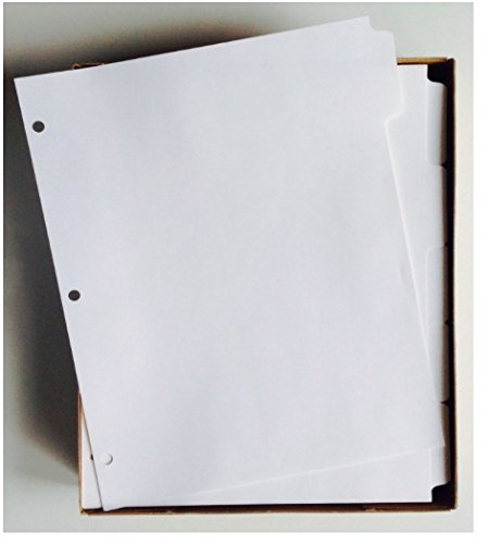 White 8.5 Dividers (KLEER-FAX (88914) 5-Tab White Ring-Book Index Divider Sheets, 8.5