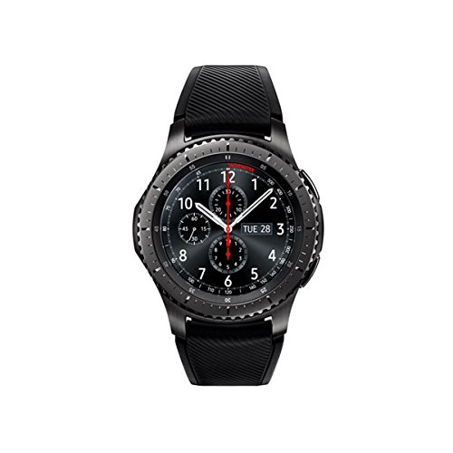 Samsung - Gear S3 Frontier Smartwatch 46mm - T-Mobile 4G LTE Version, Dark Grey SM-R765T