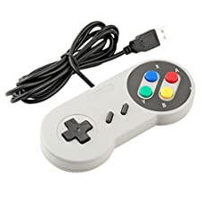 Childhood Gamelink Retro USB Controller PC Gamepad for Super Famicom Nintendo SNES Style PC MAC