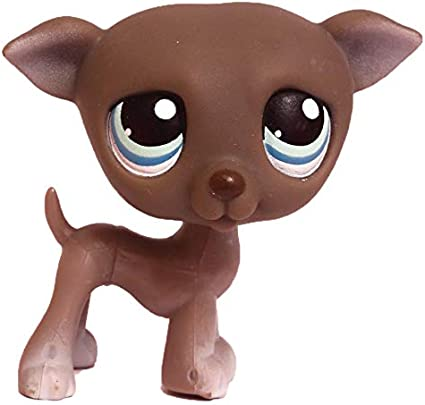 Retired Gray Collector Toy Littlest Pet Shop Loose Hasbro LPS Collectible Replacement Single Figure OOP Out of Package /& Print Greyhound #319