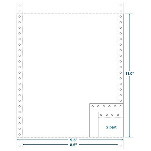 2-Ply Carbonless Paper, Blank, Form Size 9-1/2'' x 11'' (W x H) (Carton of 1800)