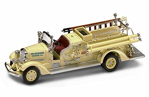 1938 Ahrens-Fox VC Fire Engine Boonton, NJ, Yellow - Yatming 43003 - 1/43 Scale Diecast Model Toy Car