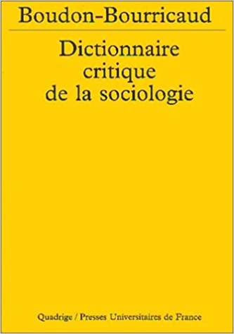 Book Dictionnaire critique de la sociologie, 2e édition