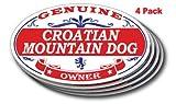 CROATIAN MOUNTAIN DOG Oval Sticker - 4 pack
