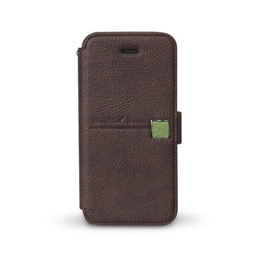 Zenus Apple iPhone 5S | 5 Color Point Diary Wallet Case Cover Collection - Italian Top Faux Leather - Black Chocolate