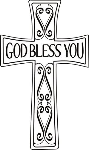 God Bless You Cross Rubber Stamp by DRS Designs Rubber Stamps