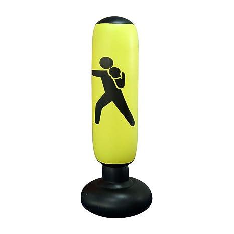 JanTeel Boxsack 160cm, Standboxsack Aufblasbare Boxsäule Tumbler Kinder/Erwachsene Fitness Dekompression Sandsäcke Kick Kampf