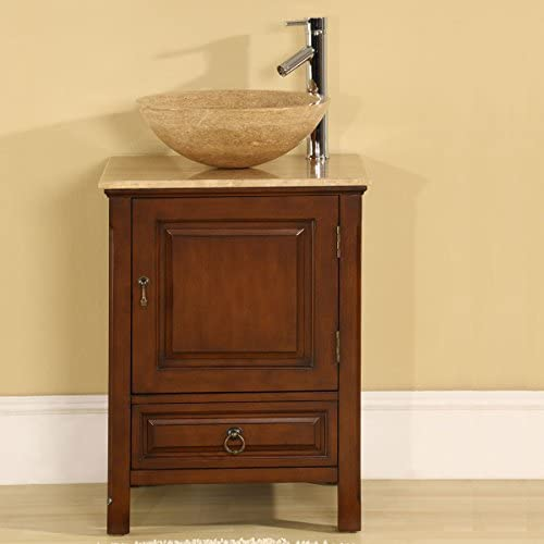 Silkroad Exclusive HYP-0158-T-22_SRS-0029B Bathroom Vanity