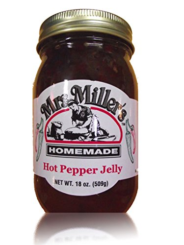 HUGE 18 oz Hot Pepper Jelly Sweet & Spicy, Amish and Homemade, Great Marinade! - Jalapeno Jelly