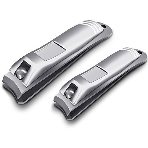 nail clippers 2pcs professional sharpest stainless steel