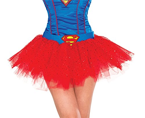[Adult DC Comics Super Hero and Villain Tutu Skirts (Supergirl)] (Heroes And Villains Dress Up)