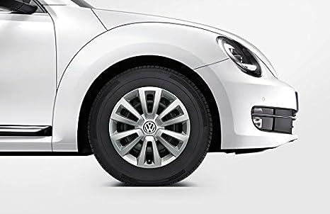 """Cubiertas De Rueda Set Juego 16"""" Pulgadas Original VW PLATA BRILLANTE TAPACUBOS"""