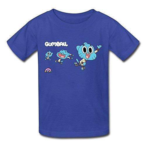 Crew Neck Amazing World Of Gumball Nichole Kids Boys Girls Youth T Shirt RoyalBlue Size XL (The Amazing World Of Gumball The Castle)