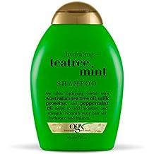 OGX Shampoo Hydrating TeaTree Mint, (1) 13 Ounce Bottle, Moisturizing Shampoo with Australian Tea Tree Oils, Paraben Free, Sulfate Free, Sustainable Ingredients, Nourishing