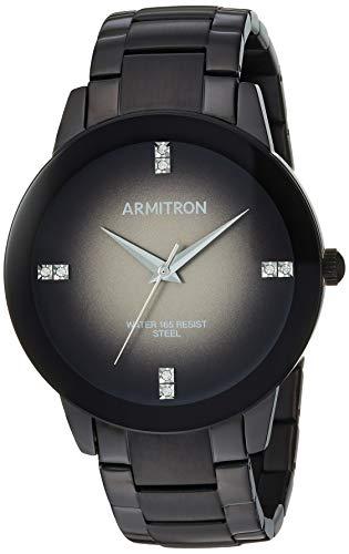 - Armitron Men's 20/5302DGTI Swarovski Crystal Accented Black Bracelet Watch