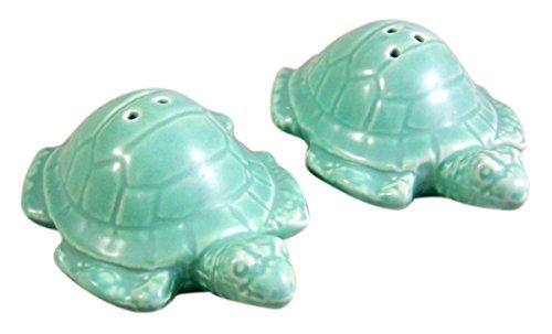 Green Turtle Salt and Pepper Shaker Set 1 1/4 Inch ()
