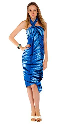 dye o Sarong de Cubriendo Tie Azul o Mundo traje de Mujeres Efecto 1 Traje Sarongs ba ba YHwnPYx8