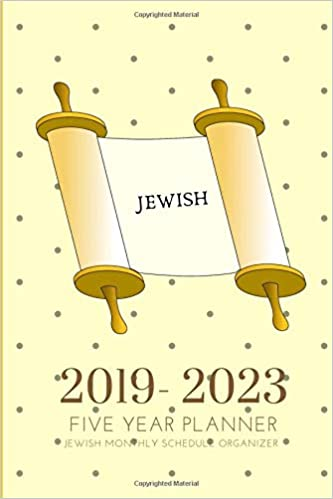 2019-2023 Five Year Planner Jewish Monthly Schedule ...