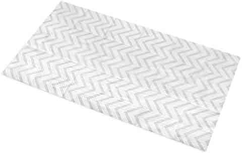 Little Things 25 LARGE Disposable Baby Diaper Changing Pads, 100% Leak-Proof Sanitary Mats for Changing Tables, Great Waterproof Cover for Travel, Premium Liners 26.75x18 in (Gray Chevron Pattern)