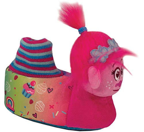 6f37501facd0 Favorite Characters Baby Girl s TLF217 Trolls Slipper Head (Toddler Little  Kid) Pink Large