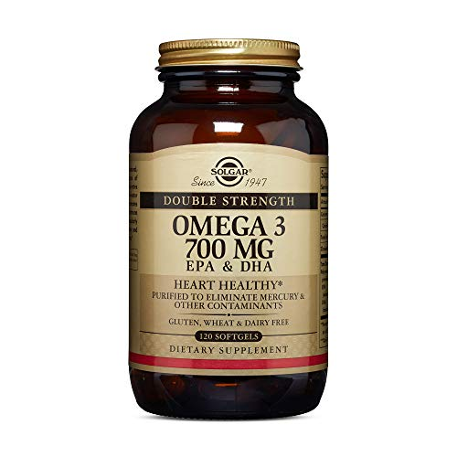 Solgar Double Strength Omega-3 700 mg, 120 Softgels - Fish Oil Supplement - Support for Cardiovascular, Joint & Cellular Health - Contains EPA & DHA Omega 3 Fatty Acids - Gluten Free - 120 Servings