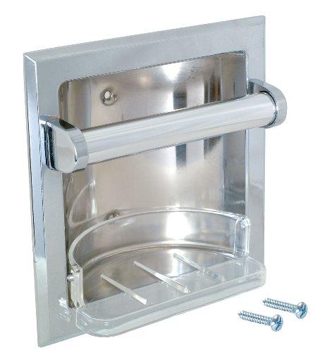 Holder Soap Recessed - EZ-FLO 15215 Recessed Soap and Grab Bar
