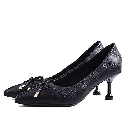 FLYRCX Arbeiten Sie süße süße süße Schuhe des hohen Absatzes des Bogens der einzelnen Schuhe Damen die auf Spitze Gezeigt Werden hoch bab9bb