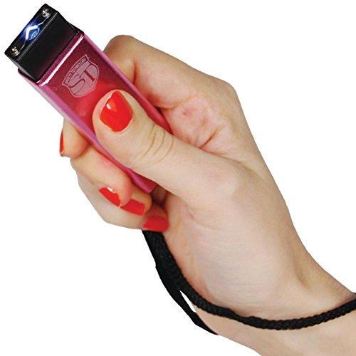 Safety Technology Mini Keychain LED Slider Stun Gun Pink 10 Million Volts -