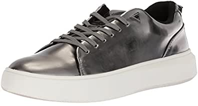 GUESS Men's Delacruz Sneaker, Grey, 9 D(M) US