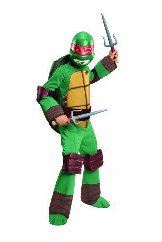 [Teenage Mutant Ninja Turtles Deluxe Raphael Costume, Medium] (Ninja Turtles Child Costumes)