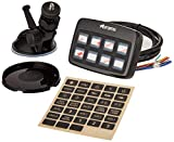 Astro Series 7 Gang LED Push Button Switch Box Panel - Emergency Car Light Controller With 7 Backlit Control Buttons - Universal Switch Box For Offroad Vehicle, SUV, ATV, Jeep & Truck - 35 Stickers