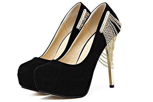Femmes Chaussures Talons hauts Boîte de nuit sexy avec talons hauts de haute 12Cm chaussures de mariage de diamants , black , 40