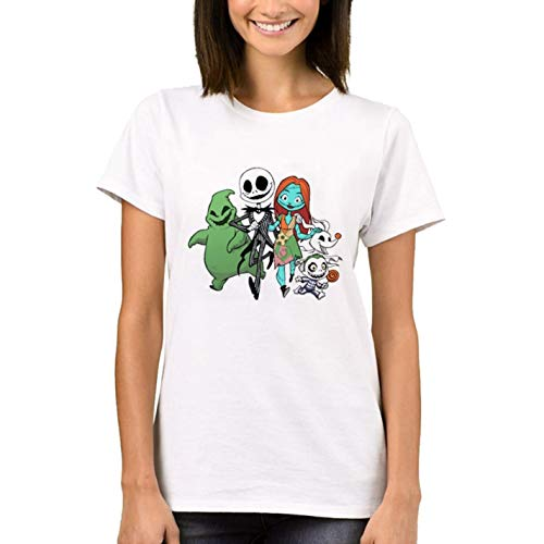 Short Sleeve Halloween Women T-Shirt Zombie Mouse Printed Lady Tops -