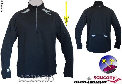 Saucony Langarm Laufshirt Herren / longsleeve running shirt L/S Ignite Optech Sport Top Men BK