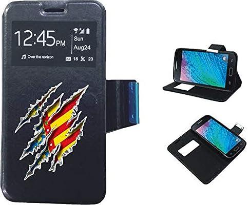 Sony Xperia Xa2 Ultra - Funda de Libro Flip con Tapa Ventana Color Negro Dibujo Bandera Comunidad Valenciana: Amazon.es: Electrónica