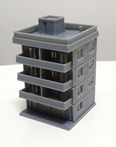 Outland Models Railway Modern City Building 4-Story Apartment Z Scale 1:220