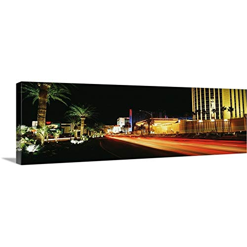 Las Vegas Blvd Hotels - GREATBIGCANVAS Gallery-Wrapped Canvas Entitled Las Vegas BLVD The Strip Neon Various Hotels Looking North by 60